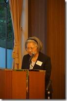 日本ガラス工芸学会 40周年祝賀会司会の池田様