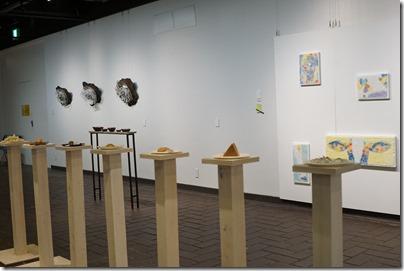 第8回ガラス教育機関合同作品展 ギャラリーB 展示の様子