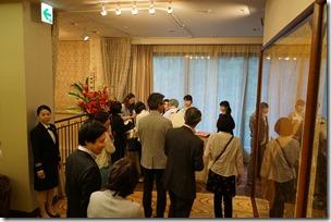 日本ガラス工芸学会創立40周年記念祝賀会 受付
