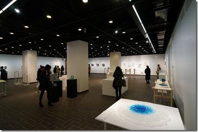 第8回ガラス教育機関合同作品展 ギャラリーB 奥から右側