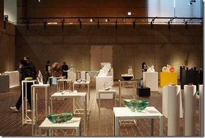 第8回ガラス教育機関合同作品展 ギャラリーA 展示の様子