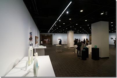 第8回ガラス教育機関合同作品展 ギャラリーB 奥から左側