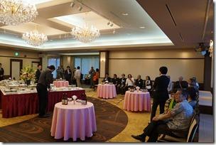 日本ガラス工芸学会創立40周年記念祝賀会 開宴前