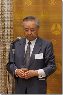 岡野或男様(公益財団法人北澤美術館副理事長)による乾杯