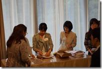 日本ガラス工芸学会 40周年祝賀会 受付準備中