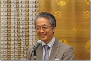 日本ガラス工芸学会創立40周年記念祝賀会 中井泉会長挨拶