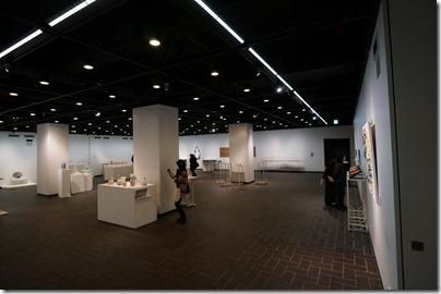 第8回ガラス教育機関合同作品展 ギャラリーB EV側から右