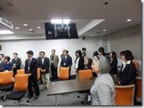 第一回日本ガラス工芸学会大会の閉会の模様