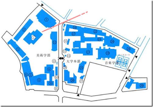 東京藝術大学 上野校舎 美術学部 地図